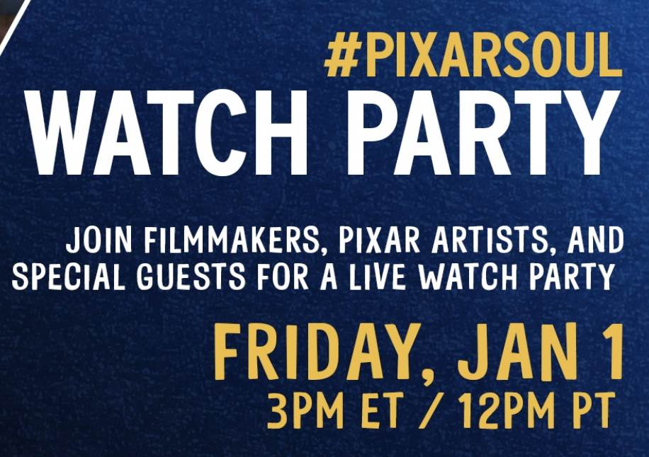 """Filmmakers, Pixar Artists, and More to Live Tweet During """"Soul"""" Watch Party January 1st laughingplace.com"""