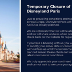 Disneyland Paris Will Not Reopen on April 2 Due to Prevailing Conditions in Europe
