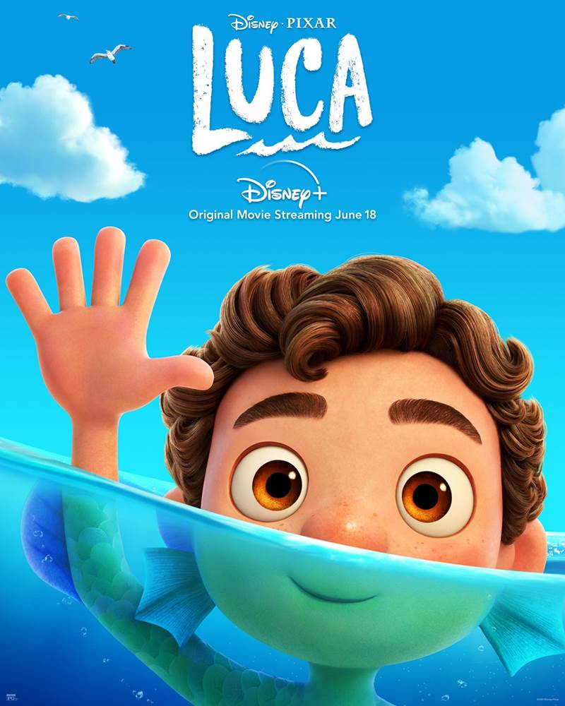"""Disney+ Shares New Posters For Upcoming Pixar Film """"Luca"""" - LaughingPlace.com"""