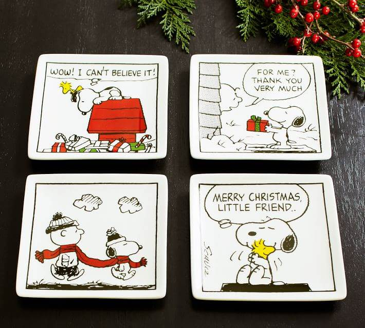 Peanuts Porcelain Appetizer Plates - Set of 4